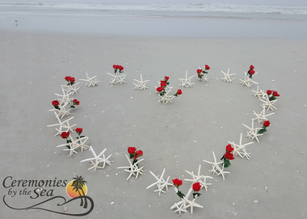 Heart in Sand  ♥ Ceremonies by the Sea, New Smyrna Beach, FL
