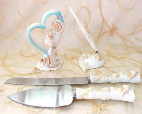 Cake Topper, Knife, Guestbook Pen ♥ Ceremonies by the Sea New Smyrna Daytona Beach Wedding Ceremony Décor