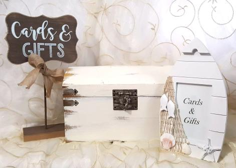 Gift Card Box & Signs ♥ Ceremonies by the Sea New Smyrna Daytona Beach Wedding Ceremony Décor