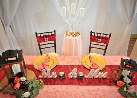 Sweetheart Table ♥ Ceremonies by the Sea New Smyrna Daytona Beach Wedding Officiant Ceremony Decor Volusia County