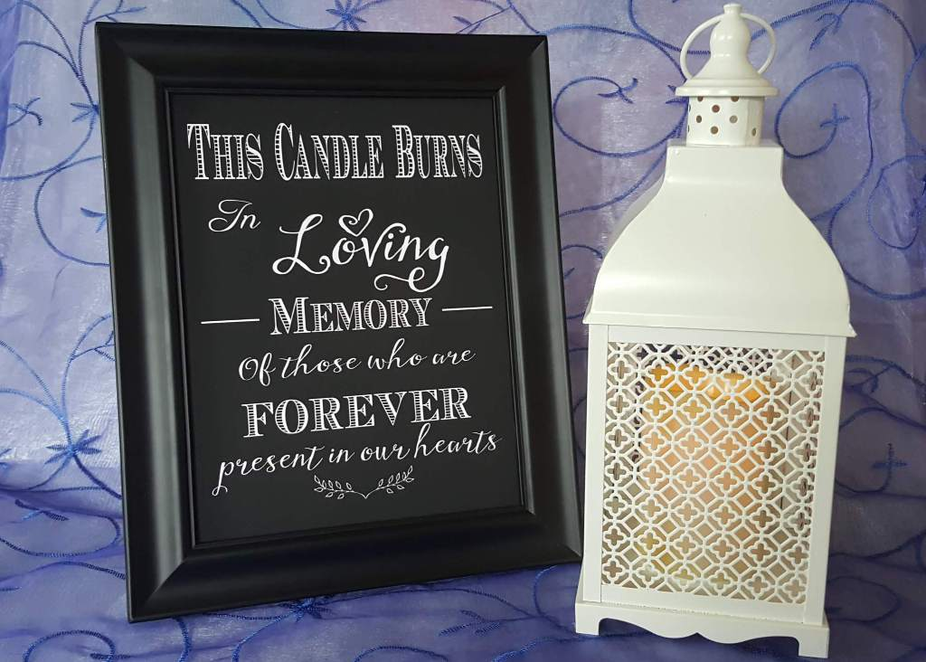 Remembrance Lantern & Sign