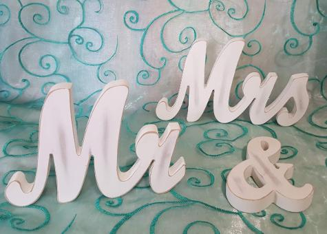 Mr & Mrs Signs ♥ Ceremonies by the Sea New Smyrna Daytona Beach Wedding Ceremony Décor